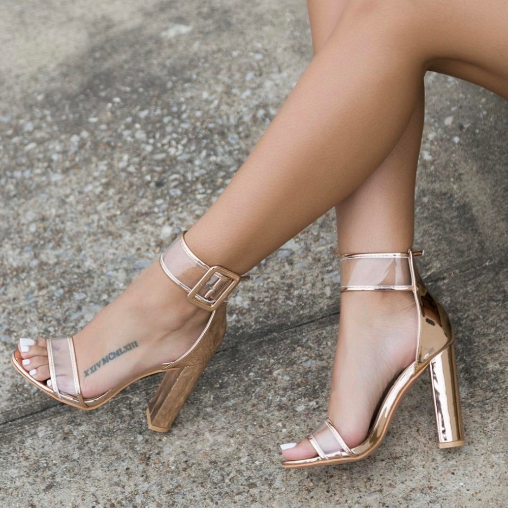 Womens sandals in size 12 - Lala Ikai Plus 10 11 12 Size Women Sandals 10cm Heels Shoes Sexy Transparent Clear Sandalias