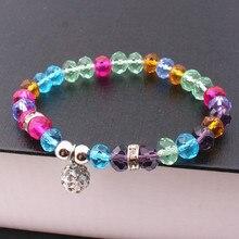 Luxury Crystal  Charm Bracelets & Bangles For Women Jewellery Pulseira Feminina Original DIY bead jewelry Christmas gift