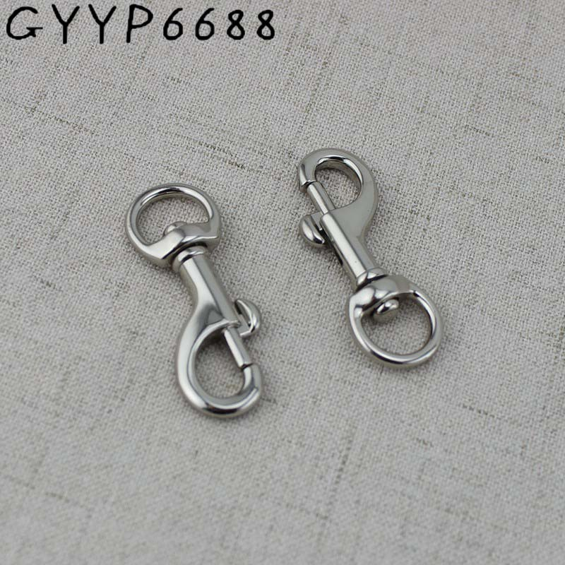 10pcs 12mm High Quality Hook Webbing Trigger Metal Snap Hook Hardware Carabines Swivel Clasp Lobster Claws Bag Parts Accessories