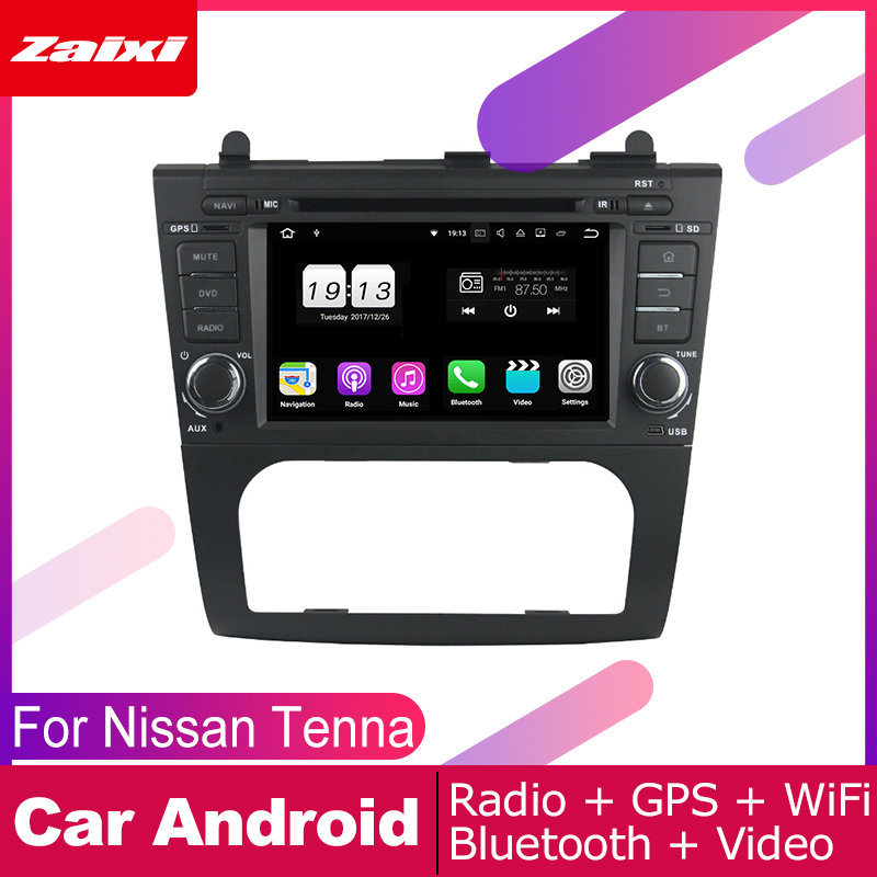 ZaiXi For Nissan Tenna Altima 2008 2012 Car Android Multimedia System 2 DIN Auto DVD Player GPS Navi Navigation Radio Audio in Car Multimedia Player from Automobiles Motorcycles