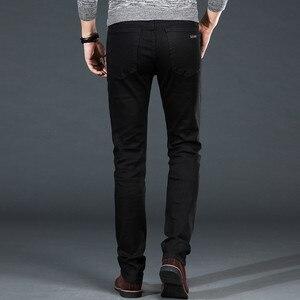 Image 4 - Mens Classic Black Jeans Elastic Slim Fit Denim Jean Trousers Male Plus Size 40 42 44 46 Business Casual Pants Brand