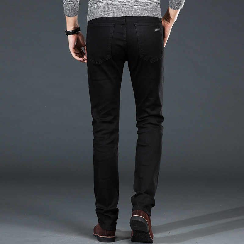 Men's Classic Black Jeans Elastic Slim Fit Denim Jean Trousers Male Plus Size 40 42 44 46 Business Casual Pants Brand
