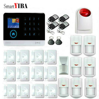 SmartYIBA WIFI 433MHz WIFI House Security Anti Theft Alarm System Strobe Siren Pet Immune Motion Sensor