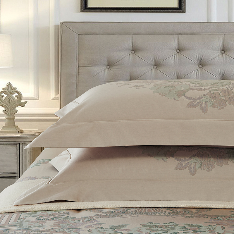 650TC Chelsea Garden Jacquard Bedding set Egyptian Cotton Yarn Dyed Fabric Sheets Duvet Cover Pillowcase Queen King Size in Bedding Sets from Home Garden