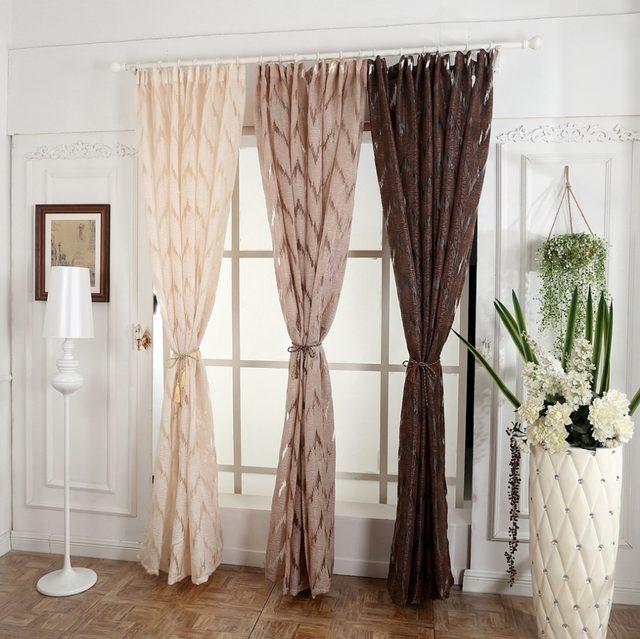 Geometrische Luxus Jacquard Fenster Vorhang Gardinen Phantasie Wohnzimmer  Vorhänge 3d Weiß Dekoration Moderne Wohnzimmer Gestreiften