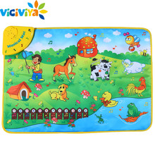 Baby Music Touch Play Game Mats Carpet Newborn Kid Children GYM Piano Speelkleed Infantil Carpet Educational Toy Mat Blanket Rug(China)