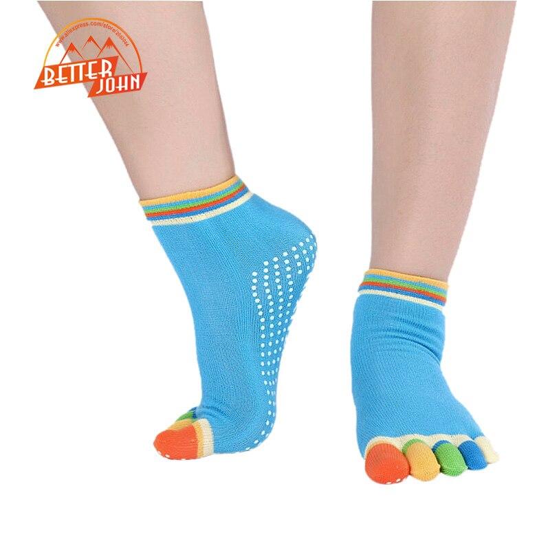 @1  Профессиональные носки для йоги Осень и зима Противоскользящие носки для йоги Five Fingers Спортивны ★