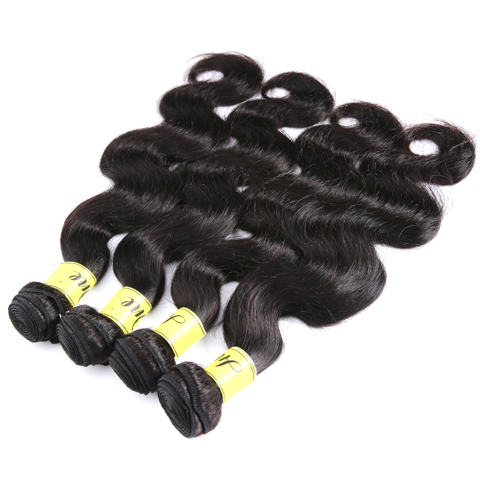 Brazilian-Hair-Weave-28-30-32-36-Inch-Bundles-Body-Wave-Unprocessed-Human-Hair-Natural-Color