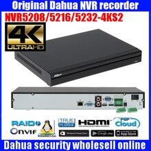 Original DaHua 4K Video Surveillance NVR DH-NVR5208-4KS2 DH-NVR5216-4KS2 DH-NVR5232-4KS2 8/16/32 Channels H.265