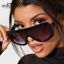 WHO CUTIE 2019 Oversized Sunglasses Women Brand Designer Shield