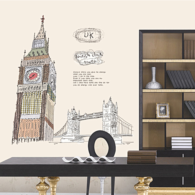 free ship london uk city big ben picture usa wall art stickers