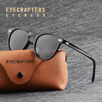 Fashion Brand Designer Glasses Vintage  Polarized Round Mirrored Sunglasses Mens Womens Classic TR90 Sun glasses Driving Eyewear