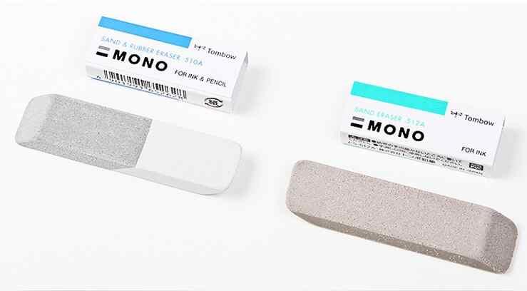 TOMBOW Mono Radiergummi ES-512A/ES-510A Für Sand Radiergummi Peeling Gummi Doppel Kopf Tinte Entferner highlight Schule Liefert Radiergummis