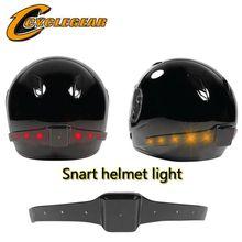 2016 Беспроводной Мотоциклов Умный шлем легкий Шлем Свет Безопасности С Ходовые Огни Стоп-сигналы Поворота Индикаторы