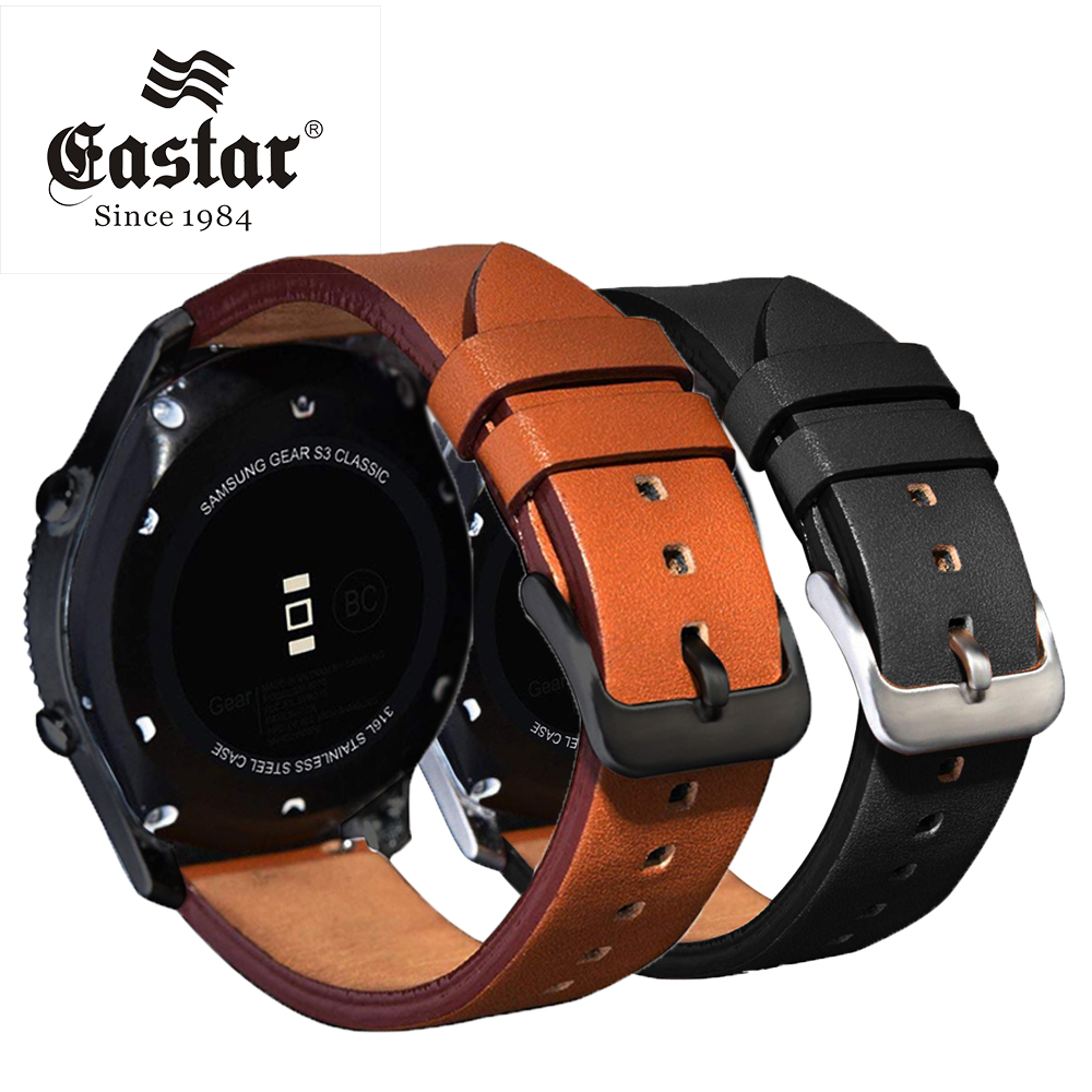 Genuine Black Leather For Samsung Gear S3 Sport Frontier Classic Watch Band For Xiaomi Huami Amazfit Bip Pace Lite Strap