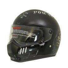 Картинг личность HD живописные картины технологии стекло стальной шлем мотоциклетный шлем