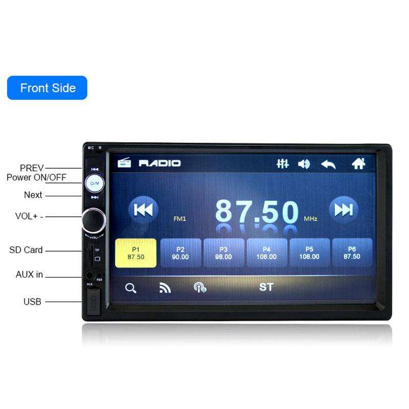 2018 Auto Parts Car Music Radio USB TF Rear Camera 2 DIN 7 Inch Car MP4 MP5 HD Player Bluetooth Car Radio Card Machine Player 2018 auto parts car radio in car radios high definition 7 inch car mp5 player car bluetooth music mp4 card radio player display