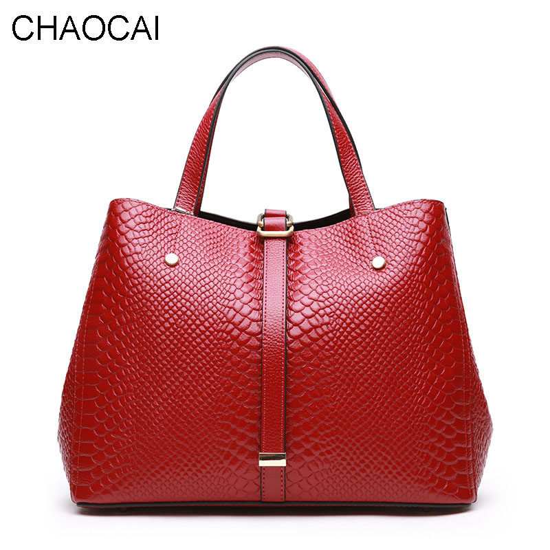 Fashion Women Handbag Genuine Leather Shoulder Bag Ladies Larger Totes Real Leather Sacthel Girl Cowhide Serpentine Pattern luxy moon women bag genuine leather composite bag women s handbag fashion casual cowhide larger tote female shoulder bag zd705