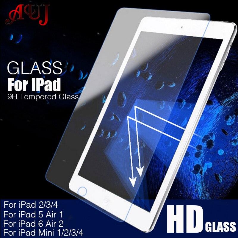 AUJ 9 H Экран протектор для Apple iPad mini 1 2 3 закаленное Стекло для iPad 2/3/ 4 5 Воздушный 1 для iPad 6 воздуха 2 защитный Стекло фильм