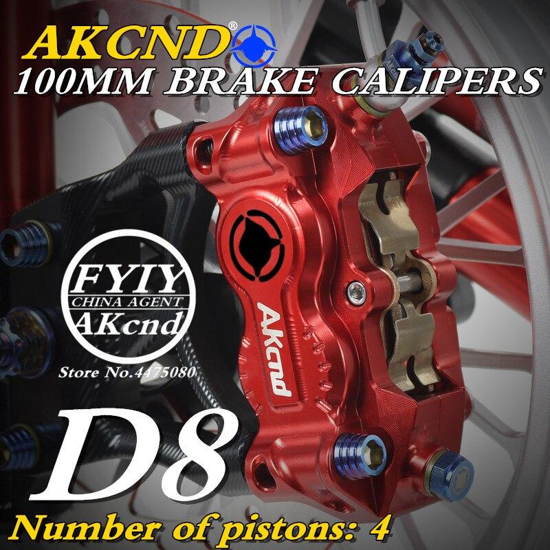 Motorcycle AKCND-D8 brake caliper hydraulic disc 100mm CNC aluminum workmanship for Kawasaki yamaha bws125 XSR-900 MT-09