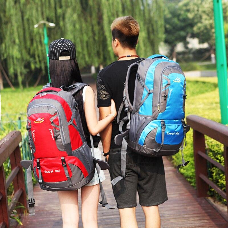 ФОТО 2016 New Fashion Unisex Nylon bags 60L Large Capacity Backpack travel bag daily Multifunctional backpacks School Bag CW8610