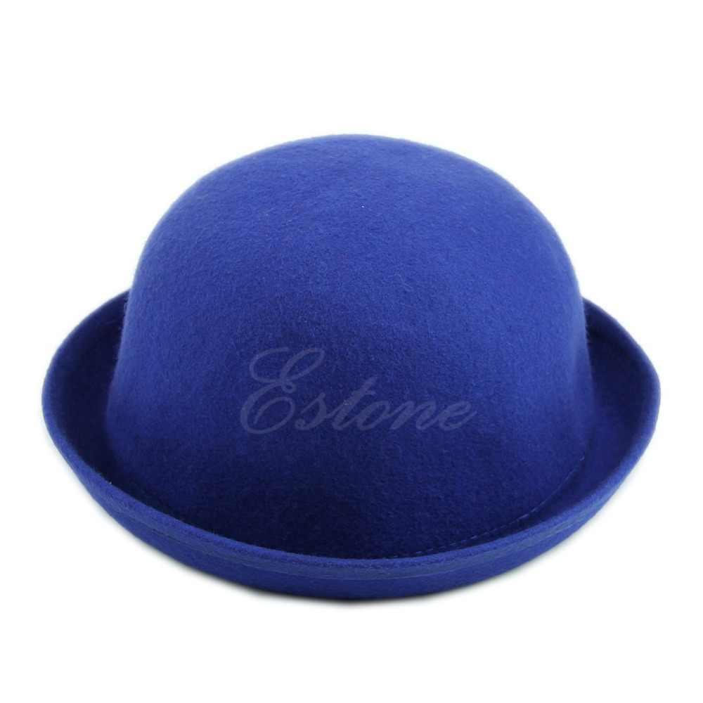 f84b4c5d06f08 ... Vintage Vogue Ladies Women Men Unisex Vintage Wool Bowler Derby Hat Cap  ...