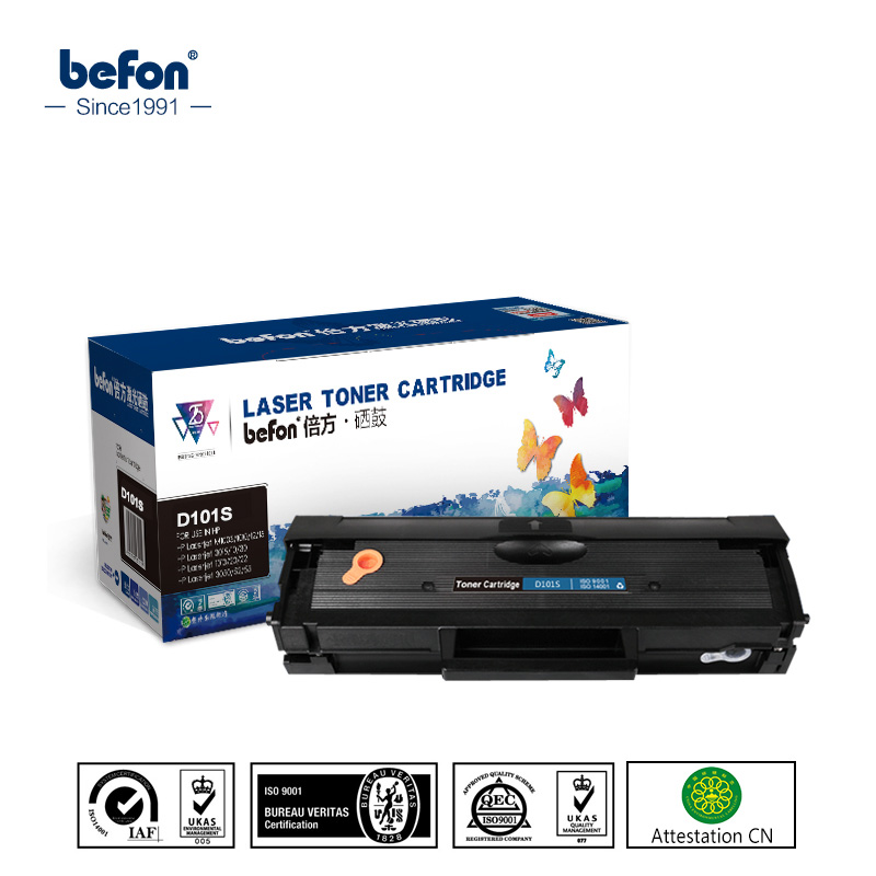 befon Refilled Toner Cartridge Compatible for Samsung Mlt-d101s D101S 101S 101 D101 ML2165 2160 2166W SCX-3405 SCX3405F SCX3405 mlt d101s d101 d101s mlt 101 101s reset chip for samsung ml 2160 ml 2160 2165 2167 2168w scx3400 3405 3407 toner cartridge chips