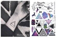 #391 Геометрические Временные Татуировки Треугольник Татуировки Современный Стиль Унисекс Тело Татуировками.(China (Mainland))