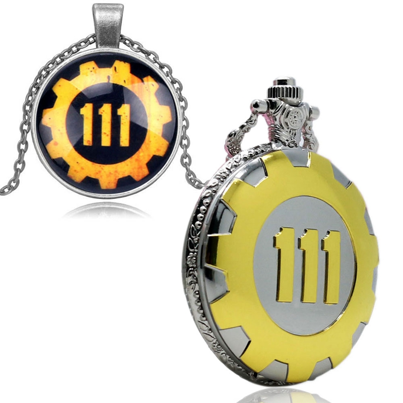 Fallout 4 Vault 111 Pocket Watch Pendant Necklace