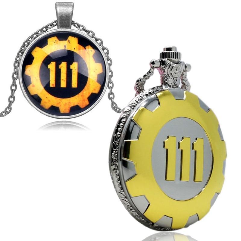 Fallout 4 Vault 111 Pocket Watch Pendant Necklace