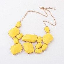 2014 New Wholesale Factory Price Gem Jewelry 4 Colors Women Statement Necklace Vintage Choke Pendants Necklaces