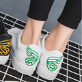 2016 Spring Autumn Butterfly White Women Casual Shoes Flats Breathable Single Student Shoes Outdoor Women Shoes
