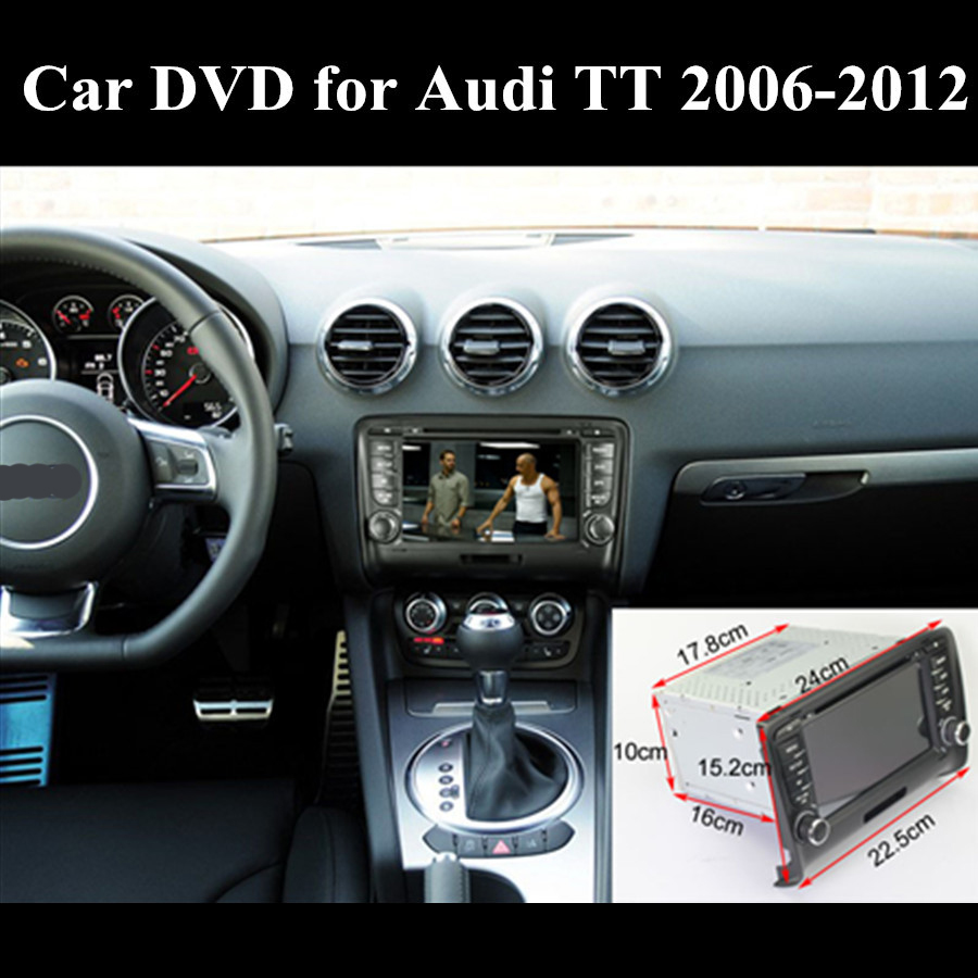 1024 600 Auto Car Dvd For Audi Tt Gps Android 6 0 1 A9 Quad Core 7