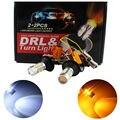 De coches de Estilo! 1 Unidades 1156 P21W BA15S 5730 20SMD Ámbar/Blanco DRL Señal de Vuelta Switchback Bombillas LED SMD 1073 S25 Luz 12 V Dual Colores