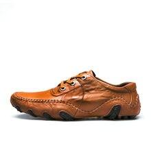 85e5097d5f Venda quente 2019 Outono Inverno Homens De Pele Sapatos Casuais Para  Adultos do Sexo Masculino de