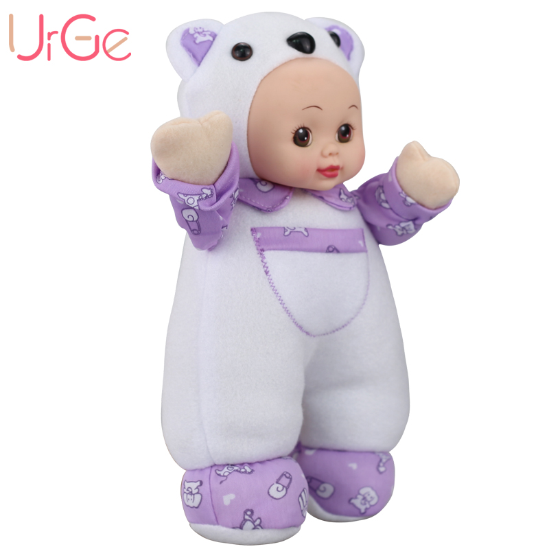 30 սմ պլյուշ քաղցր kawaii Մուլտեր Արջուկ տիկնիկ Soft Silicone Reborn մանկական խաղալիքներ Տիկնիկներ աղջիկների համար Ծննդյան տոների նվեր URGE