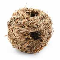 Home Woven Cage for Guinea Pig Hamster Comfortable Pet Hand-weaved Grass Net Small Animal Rabbit Accessories
