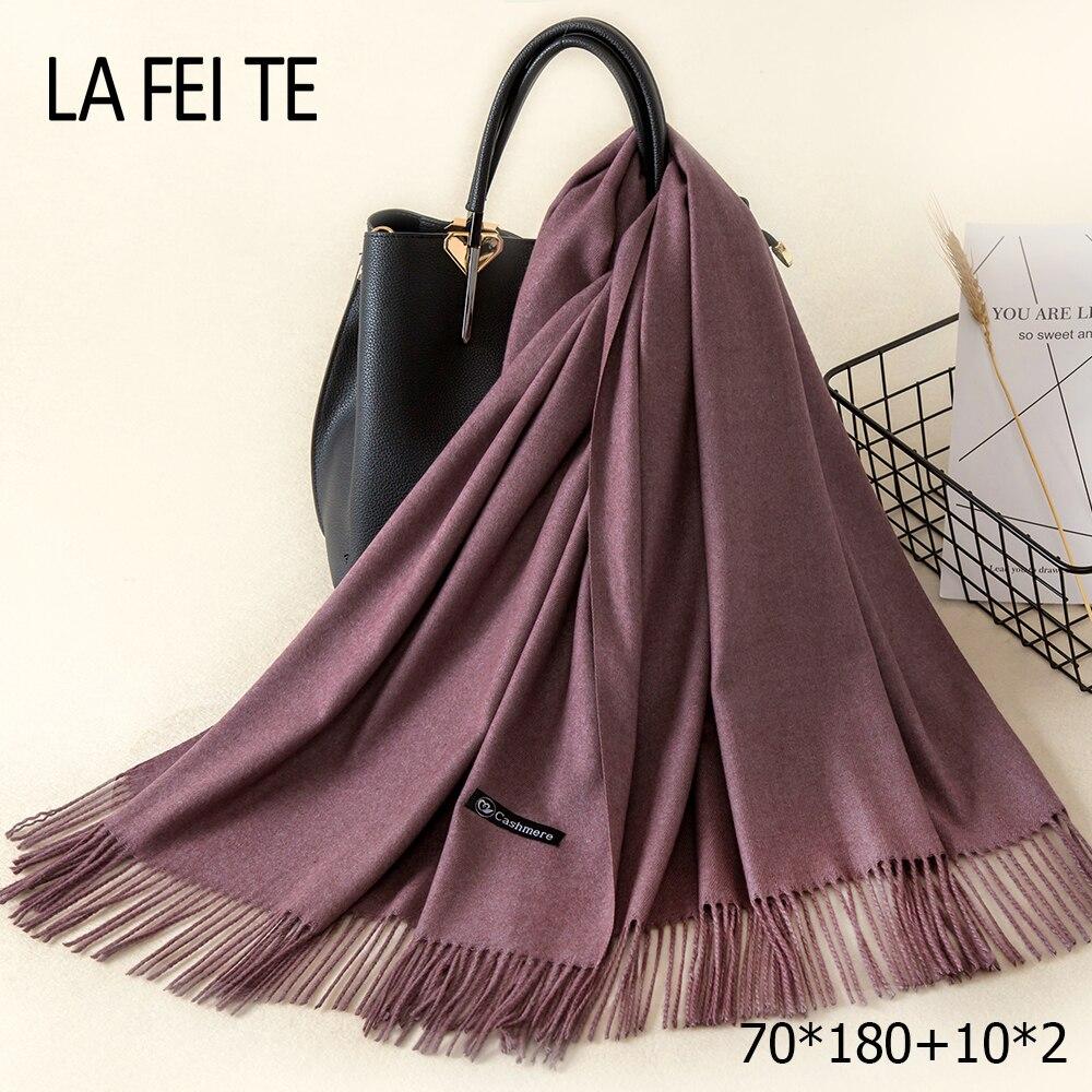 Lic Cashmere Women Scarf Warm Shawl Foulard Femme Pashmina Kerchief Wool Stole Head Neck Long Winter Scarf Women For Ladies 2019(China)