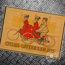 Cuadro de dibujos animados, pósteres Vintage, pintura de bicicleta, arte de pared retro, Impresión de bicicleta, pegatina con imagen, decoración de habitación de estar en casa, 42x30cm