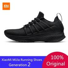 Original Xiaomi Mijia Men Smart Running Shoes 2 Outdoor Sport Mi Sneakers Breathable Air Mesh Gym Elastic Knitting Vamp Tennis
