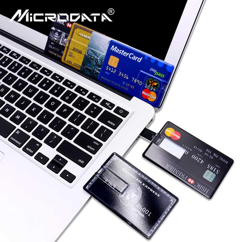 クレジットカードマスターカード HSBC アメリカ Express の Usb フラッシュドライブ 64 ギガバイトペンドライブ 32 グラム 8 グラム 16 グラム銀行カードモデルメモリスティック