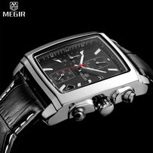 MEGIR Brand Men Chronograph Water Resistant Multifunction Quartz Watch Leather Luxury Military Watches Relogio Masculino