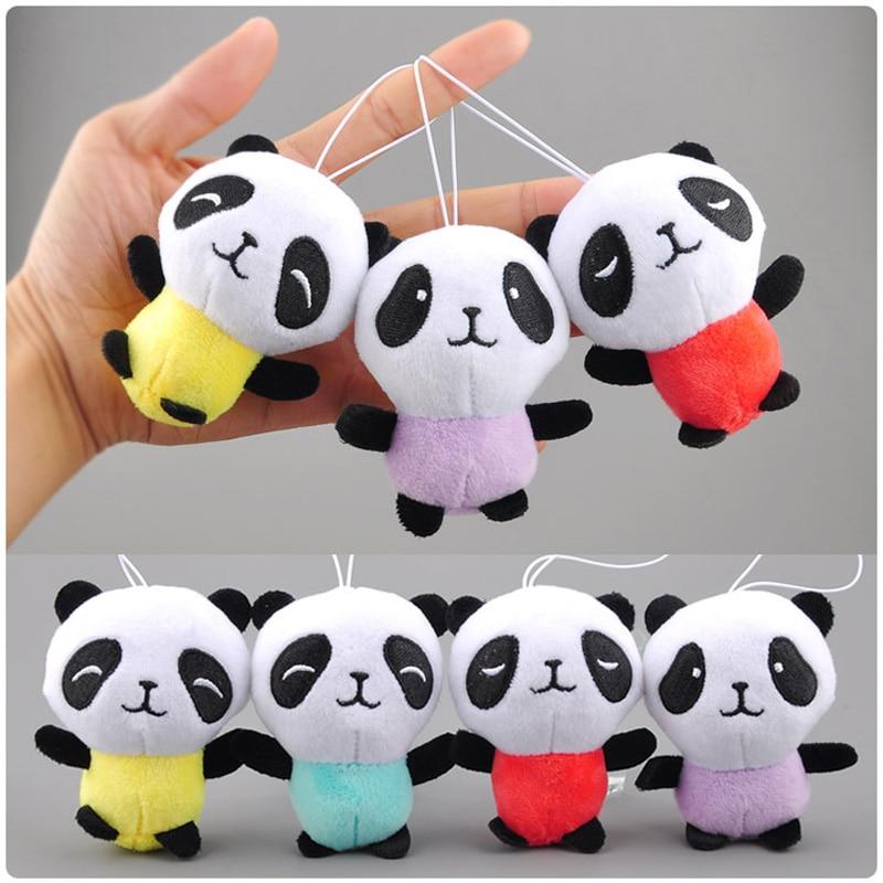 Panda Bear Standing Stuffed Animal Plush Soft Toys for Baby 10cm Cute Gift