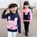 Cartoon Animal Cute Knitted Sweater Print Chandail Enfants Filles Fashion Children Kids Cotton Sweaters For Girls In Lot 60J046