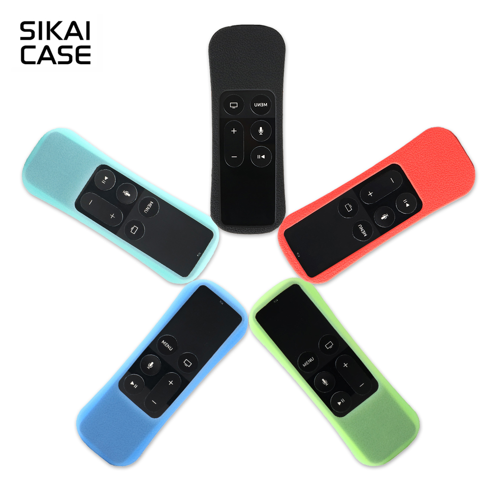 SIKAI Case for Apple TV 4 Protective Antislip Silicone Case for Apple TV Controller Case For Apple TV 4th Remote Case