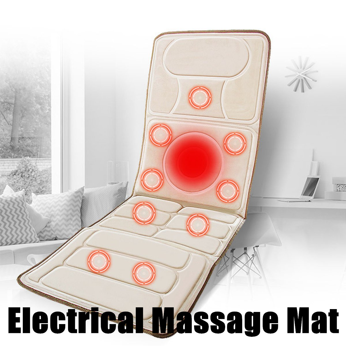 Electric Heat Infrared Massager Chair Cushion Vibrator Portable Home Car Body Neck Lumbar Waist Pain Relief Seat Pad Relax MatElectric Heat Infrared Massager Chair Cushion Vibrator Portable Home Car Body Neck Lumbar Waist Pain Relief Seat Pad Relax Mat