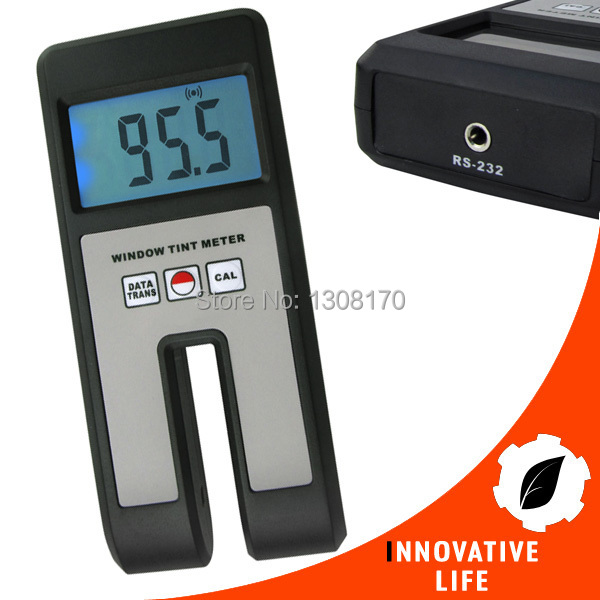 0~100% Light Transmission Range Digital Window Tint Visual Light Transmission Glass Film  Plexiglass Plastic Meter