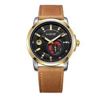 Mige 2018 Top Sale Brand Skeleton Mechanical Watch Black Brown Leather Saphire Dial Sport Waterproof Automatic Man Wristwatches