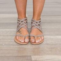 2018 New Women Sandals Comfort Sandals Summer Flip Flops Fashion High Quality Cross Strap Flat Sandals