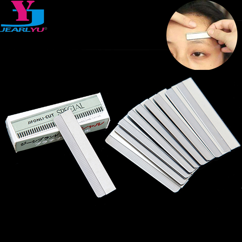 100Pcs Eyebrow Trimmer Stainless Steel Microblading Permanent Shaping Eyebrows Plucked Razor Dedicated Scraping Make Up Tools